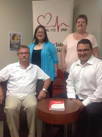 Left to Right: Wayne Stoppa (Secretary), Wanda Deadman (Treasurer), Kathleen Hamnett (Vice President), Kevin Champagne (President)