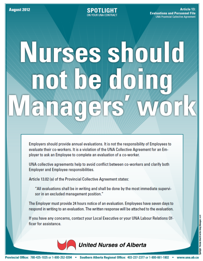 13-Nurses should not be doing Managerswork
