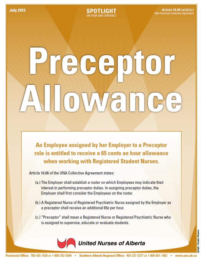 16-Preceptor Allowance