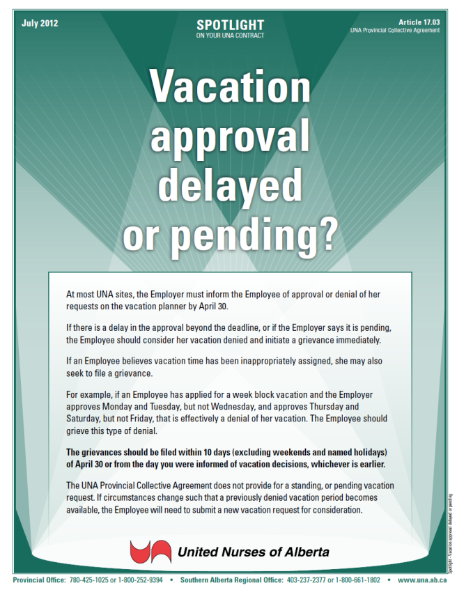 17-Vacation approval delayed or pending