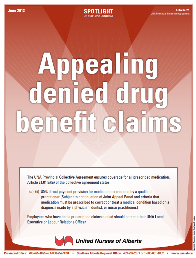 21-Appealing denied drug benefit claims