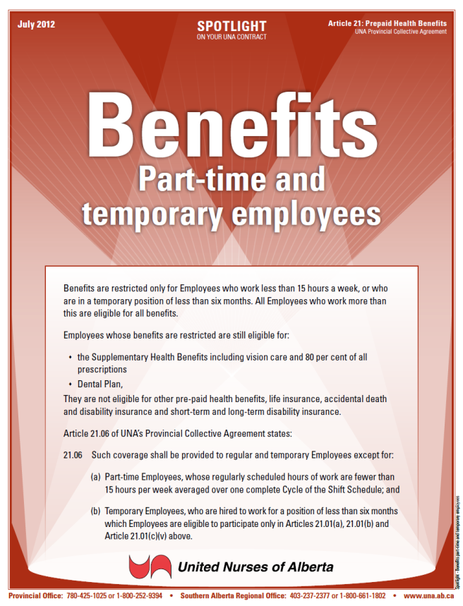 21-Benefits part-time and temporary employees