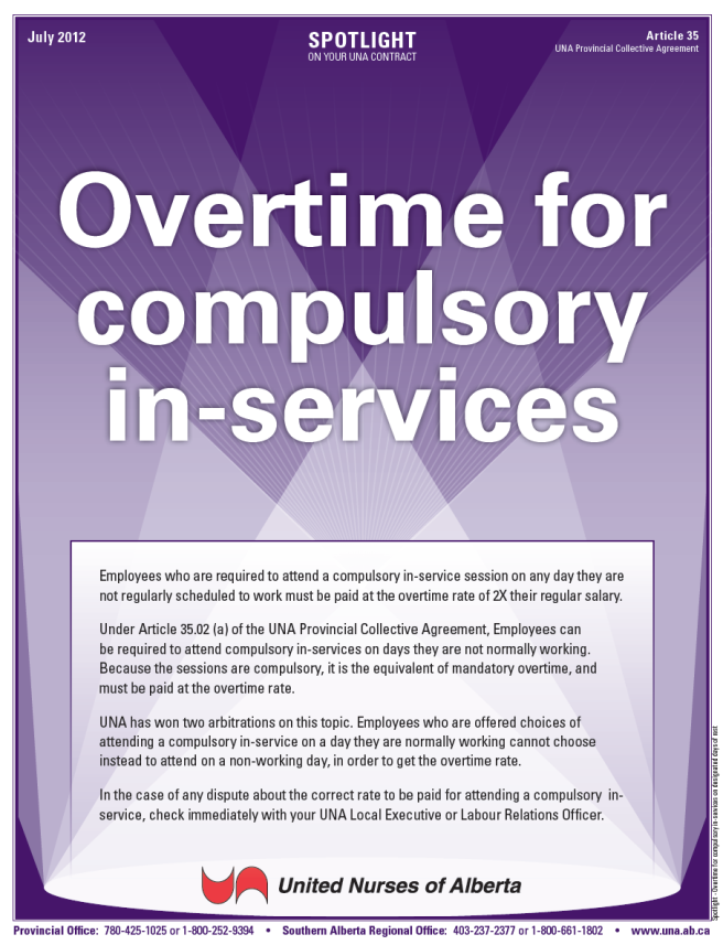 35-Overtime for compulsory in-services on designated days off