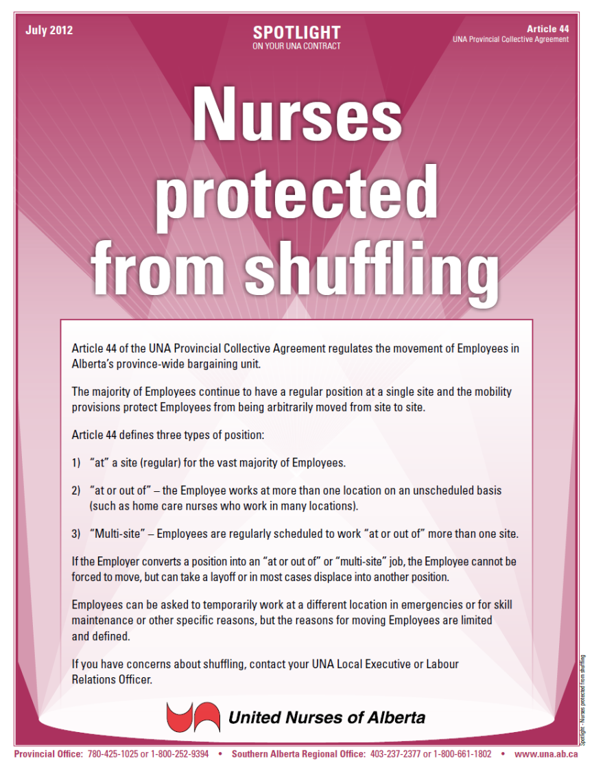 44-Nurses protected from shuffling
