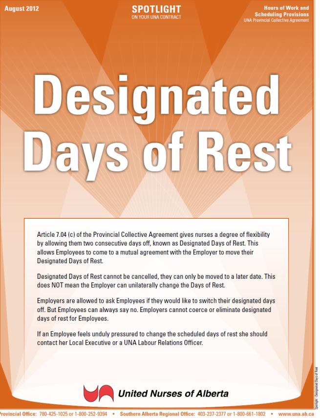7-Designated Days of Rest