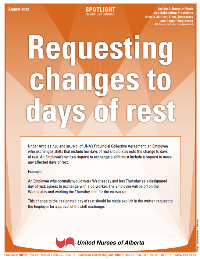 7-Requesting changes to days of rest