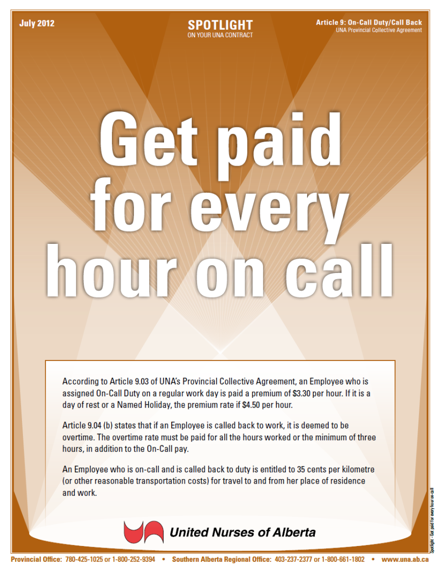 9-Get paid for every hour on-call