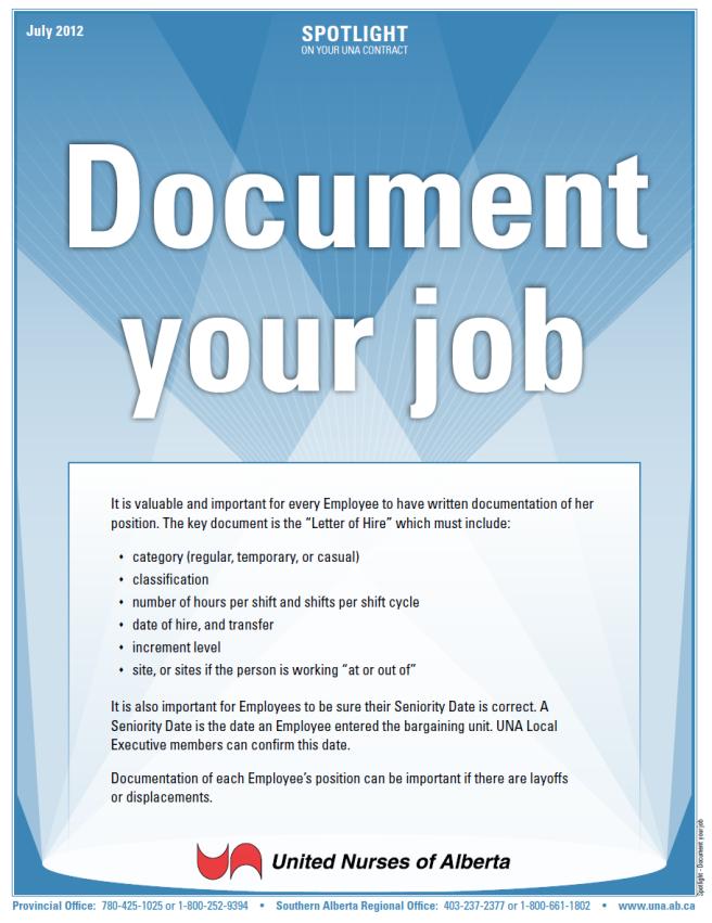 Spotlight - Document your job