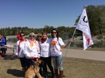 UNA members at the Peace Bridge Rally May 12, 2015